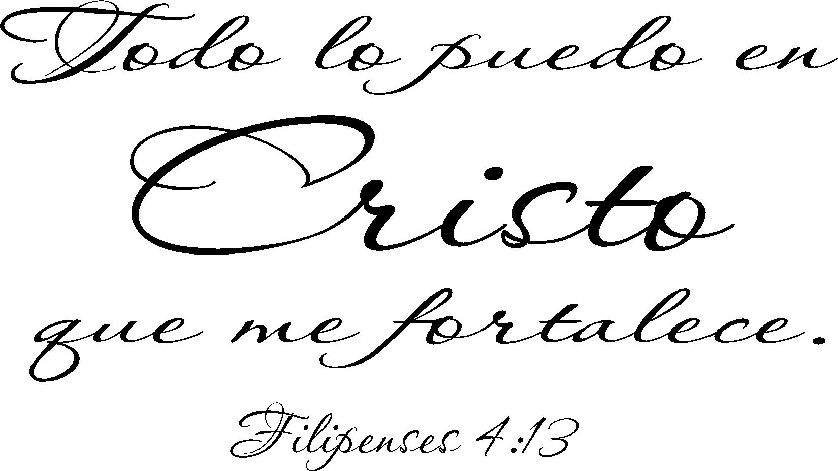 Filipenses 4:13 Spanish Vinyl Wall Decal Image