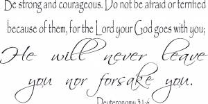 Deuteronomy 31:6 Scripture Wall Decal
