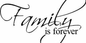 Family Is Forever Decorative Vinyl Wall Decal