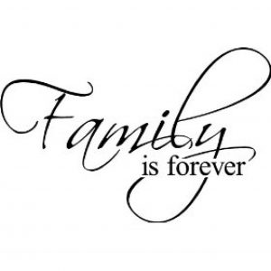 Family is Forever Decorative Vinyl Wall Decal Image