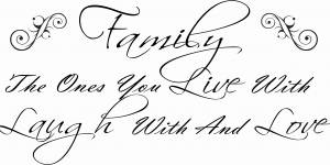 Family The Ones You Live With Family Wall Quote