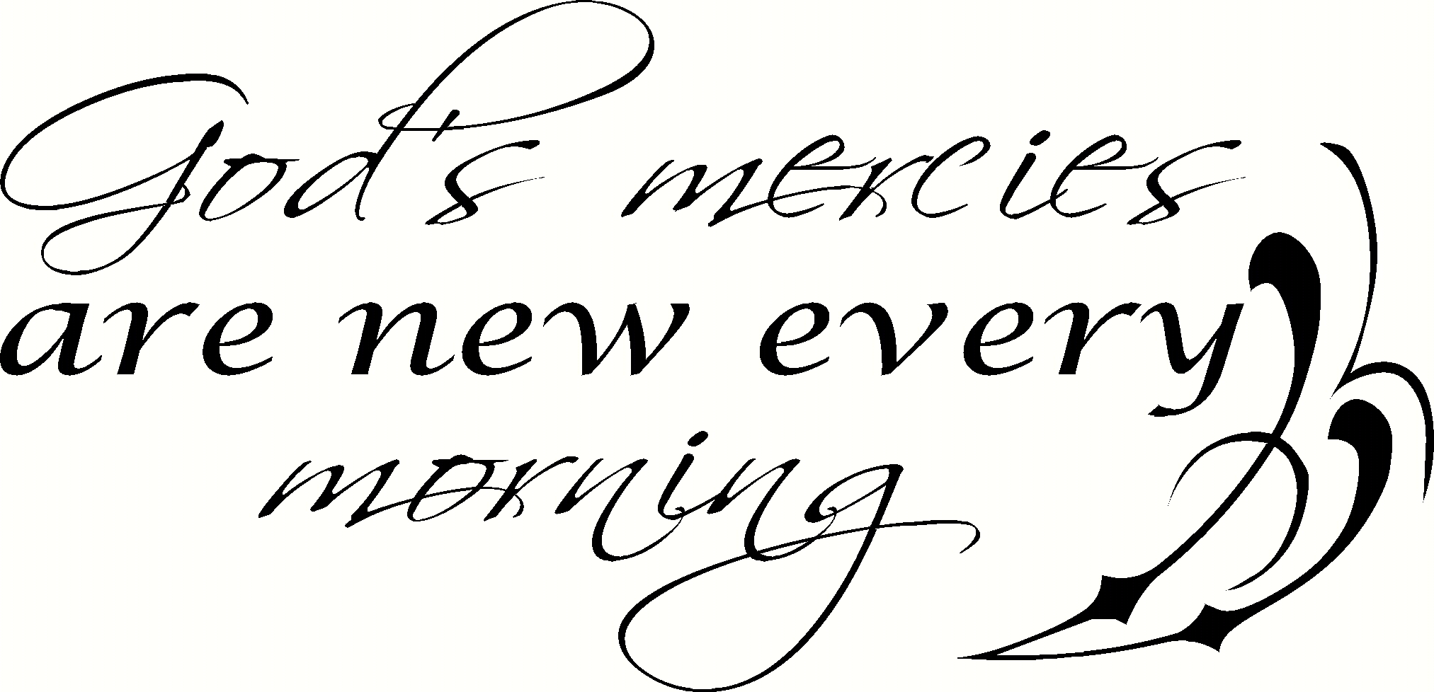 God's Mercies Vinyl Decal