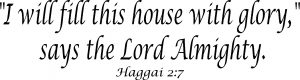 Haggai 2:7 Bible Verse Vinyl Wall Decal Image