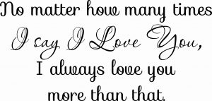 How Many Times Romantic Love Quote Wall Decal Image