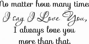 How Many Times Romantic Love Quote Wall Decal