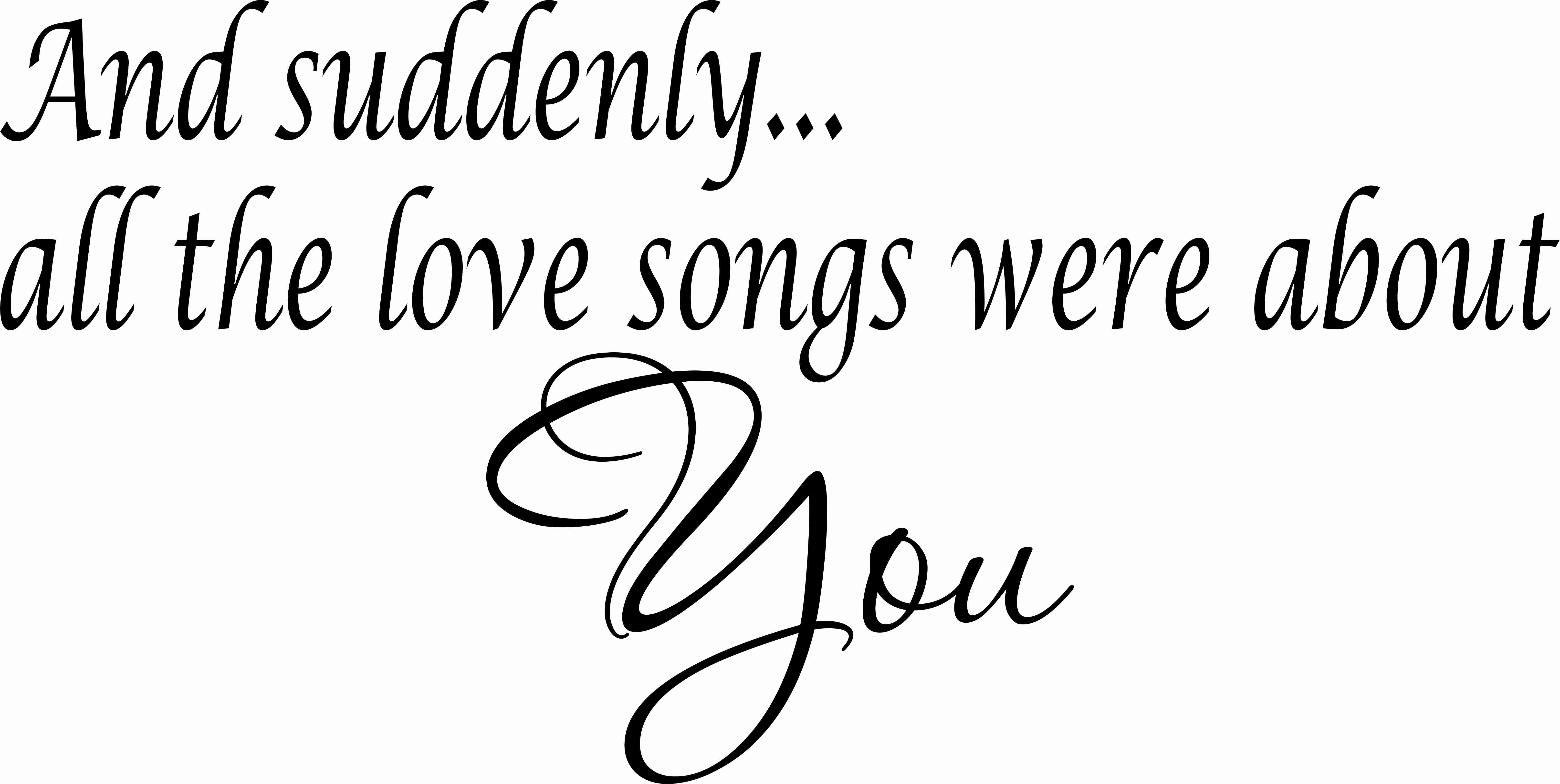 Love Songs Vinyl Wall Decal