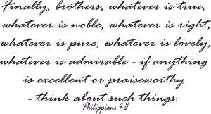 Philippians 4:8 Scripture Wall Art Image