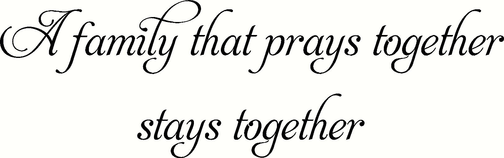 Family Prays Vinyl Decal