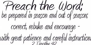 2 Timothy 4:2 Vinyl Wall Decals By Scripture Wall Art