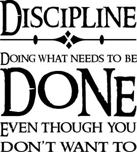 Discipline Vinyl Wall Decals by Scripture Wall Art Image