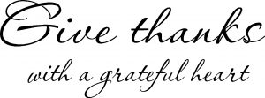 Give Thanks ~ Vinyl Wall Decal by Scripture Wall Art Image