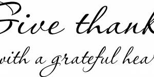 Give Thanks ~ Vinyl Wall Decal By Scripture Wall Art