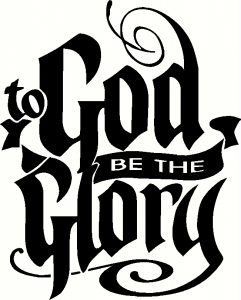 To God Be The Glory ~ Vinyl Wall Decal by Scripture Wall Art Image