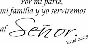 Josue 24:15 Spanish Bible Verse Wall Quote