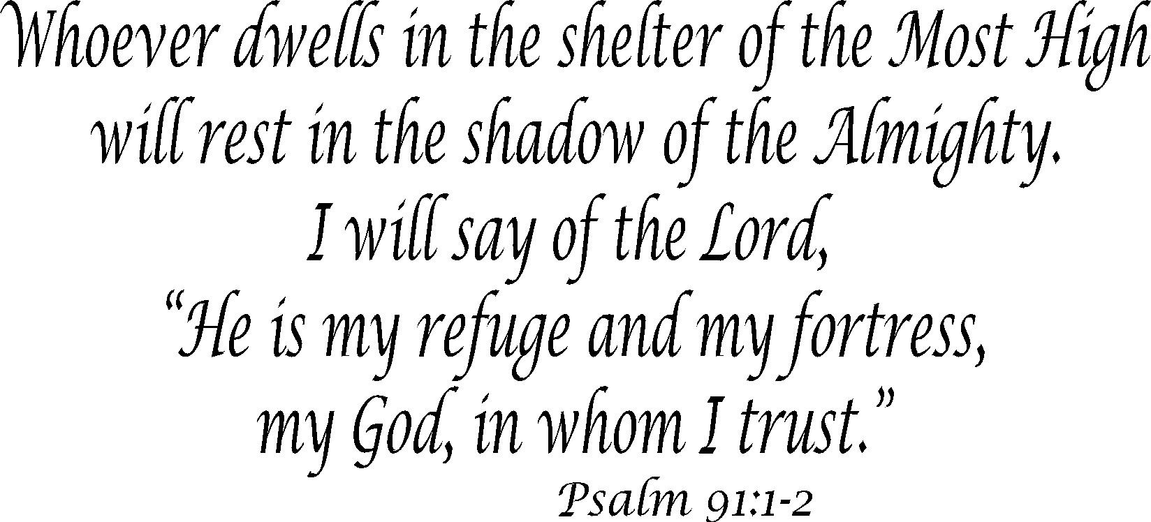 Psalm 91:12 Inspirational Wall Art