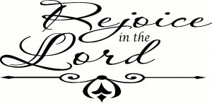 Rejoice In The Lord Vinyl Wall Decals by Scripture Wall Art Image