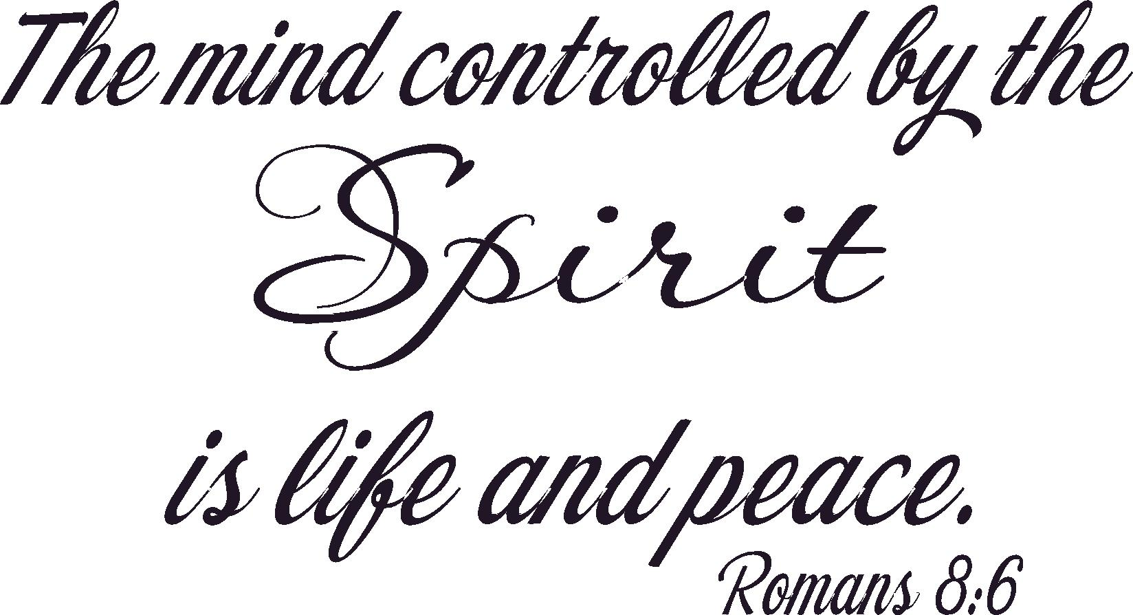 Romans 8:6 Vinyl Wall Decals by Scripture Wall Art