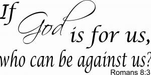 Romans 8:31 Scripture Wall Decal
