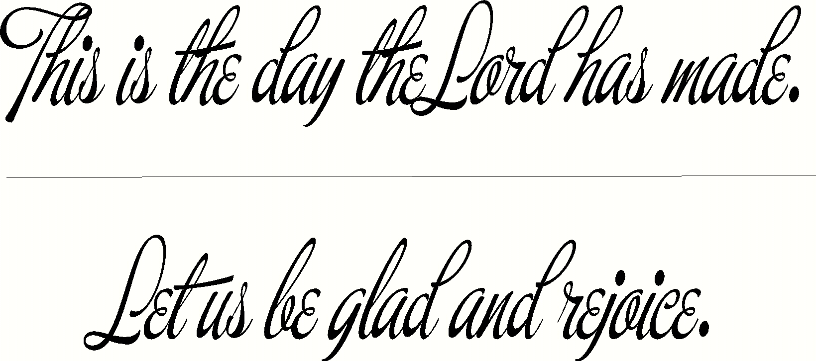 This is the Day Inspirational Bible Verses Wall Decals