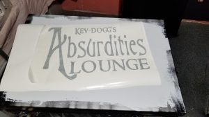 Absurdities Lounge Vinyl Wall Logo