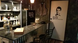 Absurdities bar with 2 vinyl wall arts