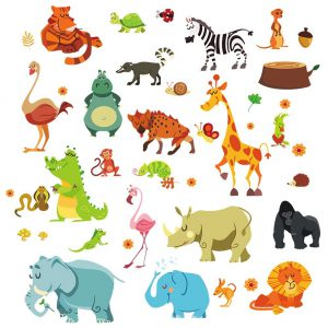 Nursery Jungle Stickers Image