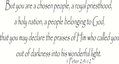 1 Peter 2:9-12 Vinyl Wall Sticker