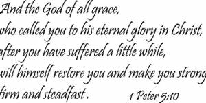 1 Peter 5:10 ~ Vinyl Wall Decal By Scripture Wall Art