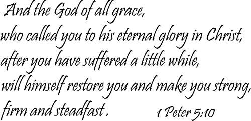 1 Peter 5:10 Inspirational Wall Art