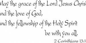 2 Corinthians 13:14 Vinyl Wall Decals By Scripture Wall Art