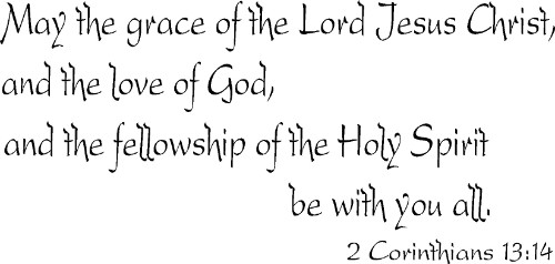 2 Corinthians 13:14 Scriptural Wall Decal
