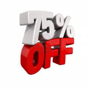 75 Percent Off Flash Sale
