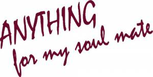 Anything For My Soulmate ~ Vinyl Wall Decal by Scripture Wall Art Image