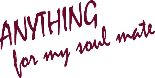 Romantic Vinyl Wall Decal ~ Anything For My Soulmate