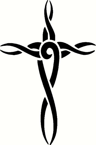 Artistic Cross Christian Decal Art