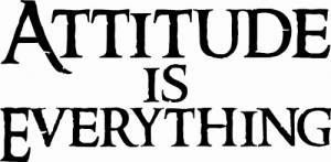 Attitude is Everything Vinyl Wall Decals by Scripture Wall Art Image