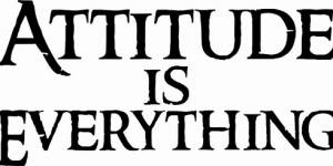 Attitude Is Everything Vinyl Wall Decals By Scripture Wall Art