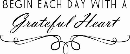 Gratitude Family Vinyl Wall Decal