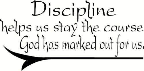 Discipline Motivational Vinyl Wall Decal