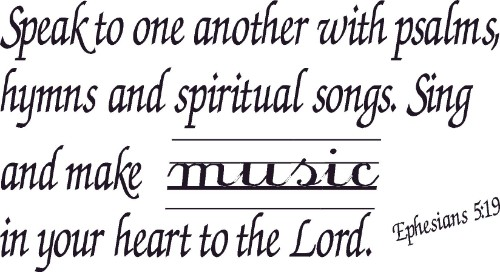 Ephesians 5:19 Christian Vinyl Wall Art