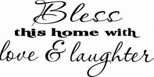 Bless This Home ~ Vinyl Wall Decal By Scripture Wall Art