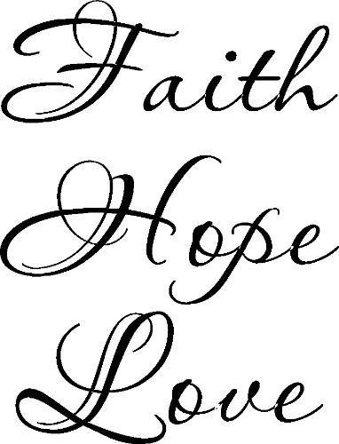Faith Hope Love Vinyl Wall Art