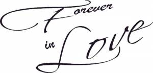 Forever in Love Vinyl Wall Decal by Scripture Wall Art Image