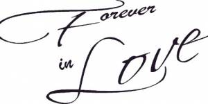 Forever In Love Vinyl Wall Decal By Scripture Wall Art
