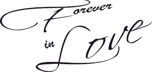 Forever In Love Wall Art Quotes