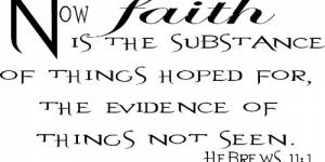 Hebrews 11:1 Vinyl Wall Decals By Scripture Wall Art