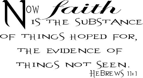 Hebrews 11:1 Bible Verse Wall Decal