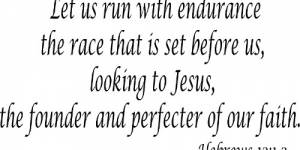Hebrews 12:1-2 Vinyl Wall Decals By Scripture Wall Art