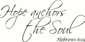 Hebrews 6:19 Vinyl Wall Decals By Scripture Wall Art