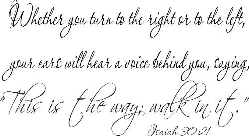 Isaiah 30:21 Christian Vinyl Wall Decal